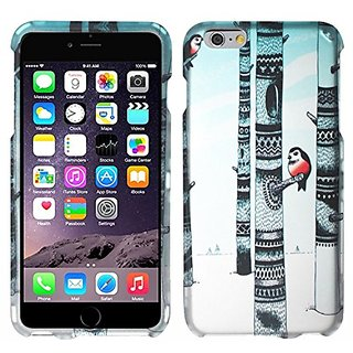 Zizo iPhone 6 Plus Rubberized Hard Snap-On Cover - Retail Packaging - Winter Owl Design