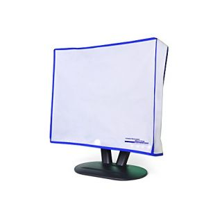 Dust and water resistant silky smooth antistatic vinyl LCD Monitor Dust Cover for 21-22