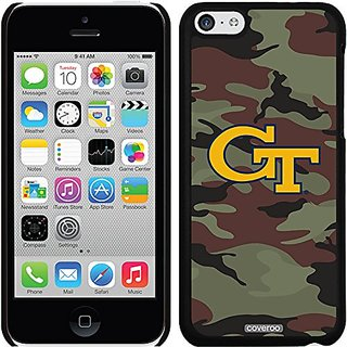 Coveroo Thinshield Snap-On Case for iPhone 5c - Retail Packaging - Black/Georgia Tech Camo 1 Design