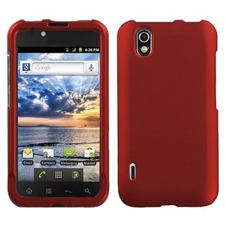 Asmyna LGLS855HPCSO202NP Titanium Premium Durable Rubberized Protective Case for LG: LS855 (Marquee) - 1 Pack - Retail P