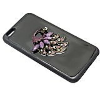 Zizo iPhone 6 Plus TPU Cover with 3D Exclusive Stone and Diamond Laminated - Retail Packaging - Purple Peacock