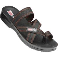 VKC Pride Black Slippers for Men-1326