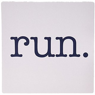 3dRose LLC 8 x 8 x 0.25 Inches Mouse Pad, Run Running Jogging Marathon Runners (mp_149840_1)