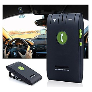 Enegg Wireless Bluetooth 4.0 Multipoint A2DP Sun Visor In-Car Hands-Free Speakerphone with Clip for iPhone, Samsung, LG,