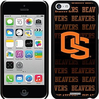 Coveroo Thinshield Snap-On Case for iPhone 5c - Retail Packaging - Black/Oregon State Repeating Design