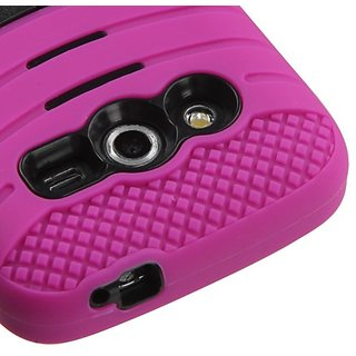 MyBat Carrying Case for SAMSUNG G386T (Galaxy Avant) - Retail Packaging - Black/Hot Pink Wave