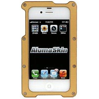 AlumaSkin Abee Style Aluminum Case for iPhone 4 & 4S - 1 Pack - Retail Packaging - Gold