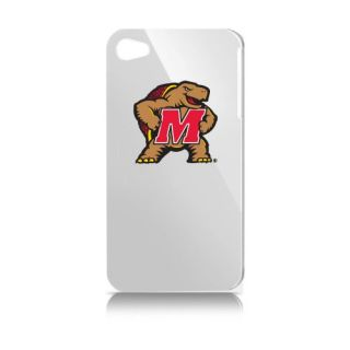 NCAA Maryland Terps Varsity Jacket Hardshell Case for Apple iPhone 4, White
