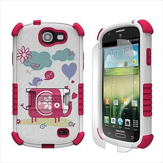 Beyond Cell Tri-Shield Durable Hybrid Hard Shell and Silicone Gel Case for Samsung Galaxy Express i437 - Retail Packagin