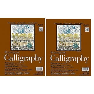 Strathmore 400 Series Tape Bound Calligraphy Pad 8 1/2 x 11 Inches Sheets, (ST405-11) 2 Pads of 50