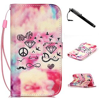 S4 Mini Case,Galaxy S4 Mini Case,Unique Pattern Top Quality TPU Leather Flip Wallet Protective Soft Skin Case with Magne