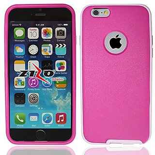 Zizo iPhone 6 PC Bumper and TPU Back 2-In-1 Cover - Retail Packaging - Pink/Light Pink