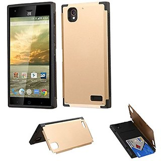 Asmyna Cell Phone Case for ZTE N9518 (Warp Elite) - Retail Packaging - Gold