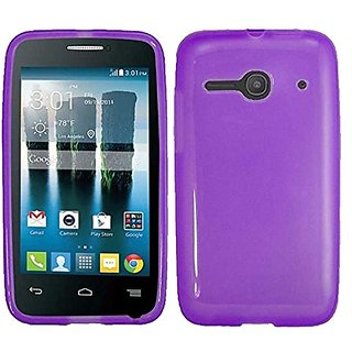 HR Wireless Alcatel One Touch Evolve 2 Solid TPU Cover Case - Retail Packaging - Purple
