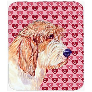 Carolines Treasures Mouse/Hot Pad/Trivet, Petit Basset Griffon Vendeen Hearts Love (LH9172MP)