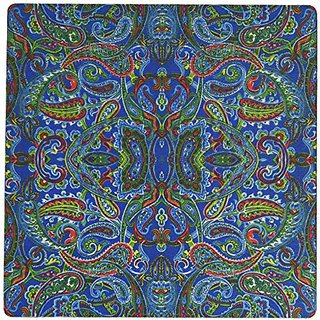 3dRose LLC 8 x 8 x 0.25 Inches Mouse Pad, Blue Paisley II (mp_33259_1)