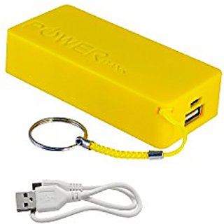 Natico Portable Charger for Universal/Smart Phone - Retail Packaging - Yellow
