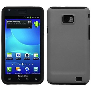 MyBat SAMI777HPCFSSO068NP Hybrid Fusion Protective Case for Samsung Galaxy S2 i777 - 1 Pack - Retail Packaging - Grey