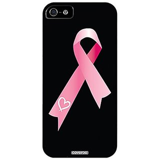 Coveroo 590-4115-BK-HC Thinshield Slim Case for iPhone 5 & 5s - Pink Ribbon Heart - 1 Pack - Retail Packaging...