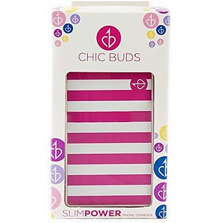 Chic Buds Portable Charger for Universal/USB Devices - Retail Packaging - Sophie