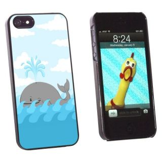 Graphics and More Cartoon Whale - Ocean Snap-On Hard Protective Case for Apple iPhone 5/5s - Non-Retail Packaging - Blac