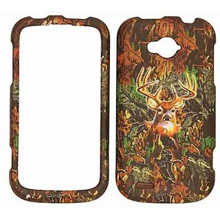 Cell Armor Snap-On Cover for ZTE Savvy - Retail Packaging - Hunter Series with Deer