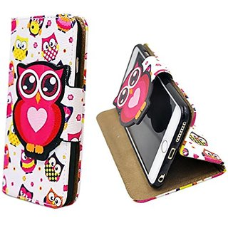 S&C Cute Cartoon Owl Style Chevron American Flag Style Flip Leather Case With Card Holder Wallet Stand Cover Magnetic Bu