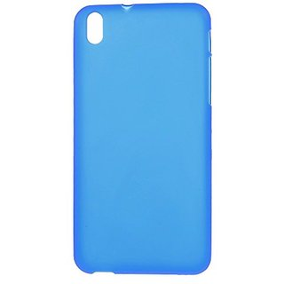 JUJEO Double-Sided Matte Glossy Edges TPU Gel Cover for HTC Desire 816 - Non-Retail Packaging - Blue