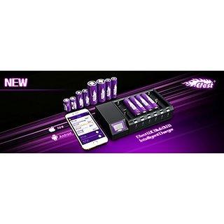 Efest Oled Bluetooth Intelligent Charger for Li-Ion, Li-MN & Ni-Mh, 10440/14500/14650/16340/16650/17650/17670/173580/184