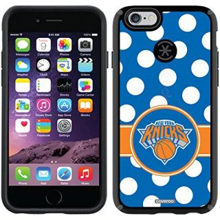 Coveroo CandyShell Black Cell Phone Case for iPhone 6 - Retail Packaging - New York Knicks Polka Dots