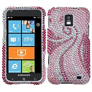 Asmyna SAMI937HPCDM005NP Premium Dazzling Diamond Diamante Case for Samsung Focus S - 1 Pack - Retail Packaging - Phoeni