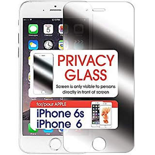 Cellet Premium Tempered Privacy Glass (0.8mm) for iPhone 6/6S - Retail Packaging - Transparent Black