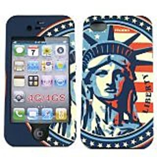 MOBO ECMIPH4DLIBERTY2 Case for iPhone 4S - Face Plate - Retail Packaging - Clear