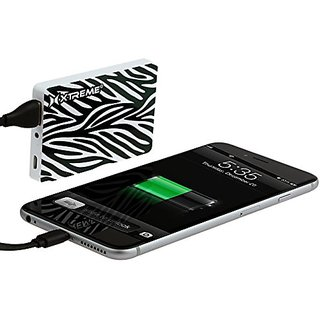 Xtreme Cables Portable Charger for iPod, iPhone and Android Devices - Retail Packaging -Zebra