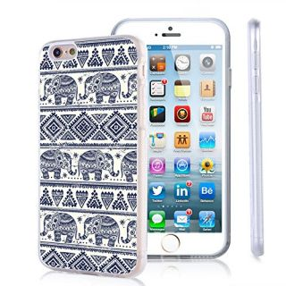 iPhone 6s Case, iPhone 6 Case Viwell TPU Soft Case Rubber Silicone Aztec Elephant pattern