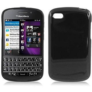 Aimo Wireless BBQ10SKC001 Soft and Slim Fabulous Protective Skin for BlackBerry Q10 - Retail Packaging - Black