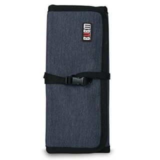 BUBM CJB-M Portable Universal Wrap Electronics Accessories Travel Organizer, Dark Blue