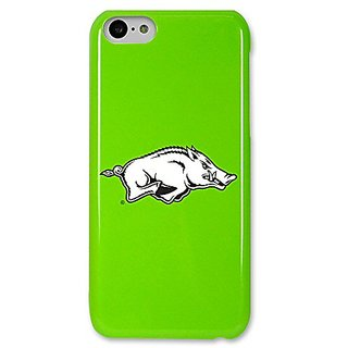 NCAA Arkansas Razorbacks Case for iPhone 5C, Green, One Size