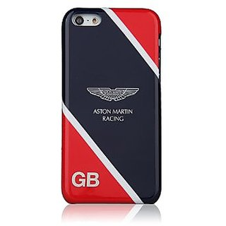 Aston Martin Racing IML Back Case for iPhone 5C - Retail Packaging - Deep Blue/Red