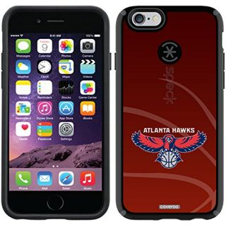 Coveroo CandyShell Black Cell Phone Case for iPhone 6 - Retail Packaging - Atlanta Hawks BBall Red