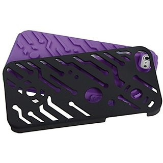 MyBat IPHONE5HPCSKCB004NP Rubberized Fishbone Protective Case for iPhone 5 / iPhone 5S - 1 Pack - Retail Packaging...