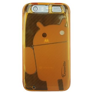 Cruzerlite Androidified A2 Case for the Motorola Atrix HD - Retail Packaging - Orange