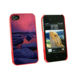 Graphics and More Hudson Bay Sunset Canada Winter - Snap On Hard Protective Case for Apple iPhone 4 4S - Red - Carrying