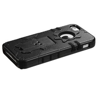 MyBat iPhone 5c Phantom Hybrid Protector Cover - Retail Packaging - Black