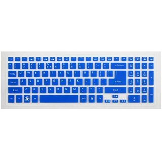 Leze Semi-Blue Ultra Thin Silicone Keyboard Protector Skin Cover for Acer Aspire M3-581T, M3-581TG, M5-581, M5-581T, M5