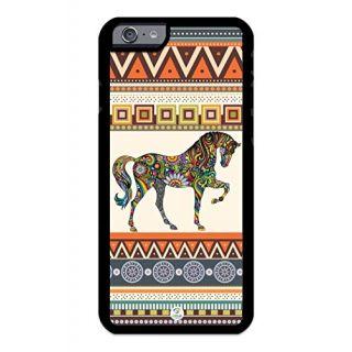 iZERCASE iPhone 6 PLUS, iPhone 6S PLUS Case Horse Art on Classical Aztec RUBBER CASE - Fits iPhone 6 PLUS, iPhone 6S PLU