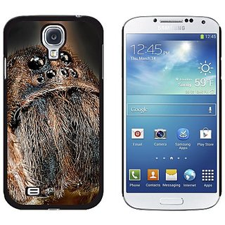Graphics and More Wolf Spider Pattern Snap-On Hard Protective Case for Samsung Galaxy S4 - Non-Retail Packaging - Black