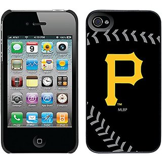 Coveroo Thinshield Snap-On Cell Phone Case for iPhone 4s/4 - Retail Packaging - Pittsburgh Pirates Stitch
