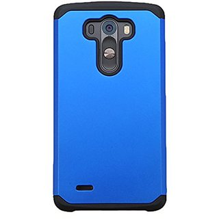 Asmyna Cell Phone Case for LG G3 - Retail Packaging - Black/Blue