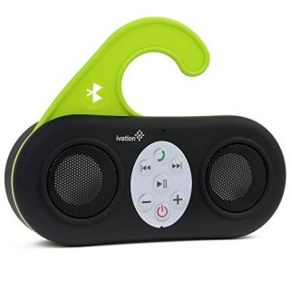 Ivation IVA-400 Waterproof Wireless Bluetooth Shower Speaker and Handsfree speakerphone for All Bluetooth Devices